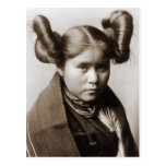 A Tewa Indian girl with fancy hairstyle Post Card