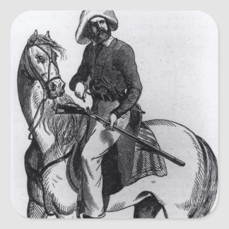 A Texas Ranger Square Sticker