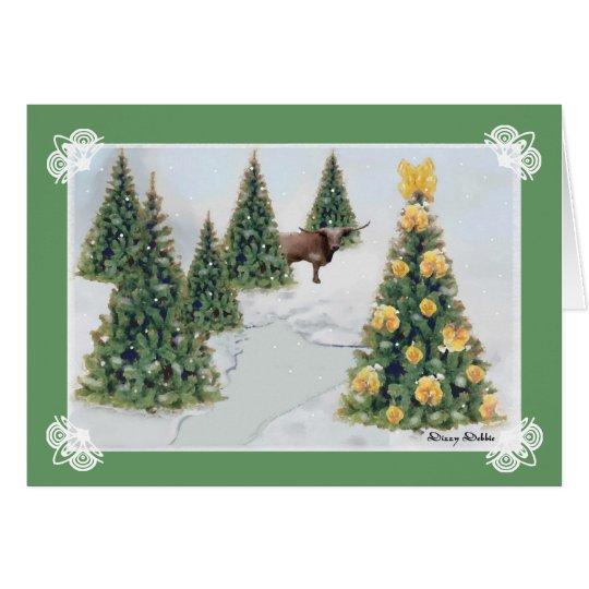 A Texas Winter Christmas Greeting Card