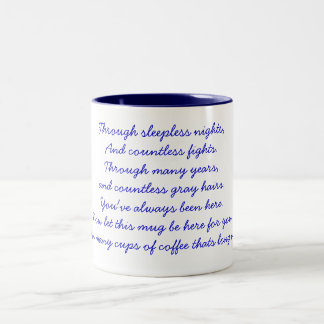 A thank you poem Two-Tone coffee mug