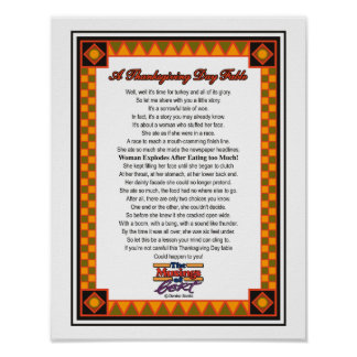 A Thanksgiving Day Fable Print