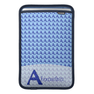 A- The Falck Alphabet (Blue) Sleeves For MacBook Air