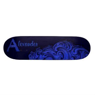 A - The Falck Alphabet (Blue) Skateboard