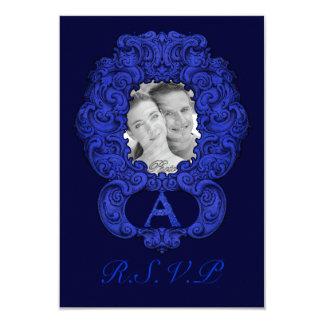 A - The Falck Alphabet (Blue) (Wedding) Card