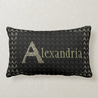 A- The Falck Alphabet (Golden) Lumbar Pillow