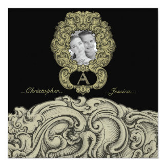 A - The Falck Alphabet (Golden) (Wedding) Card
