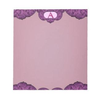 A- The Falck Alphabet (Pink) Notepad