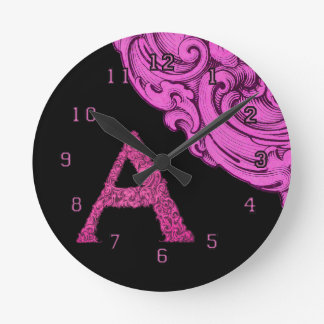 A- The Falck Alphabet Round Clock