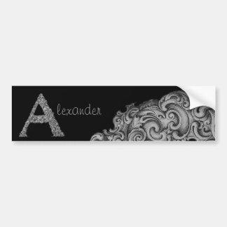 A- The Falck Alphabet (Silvery) Bumper Sticker