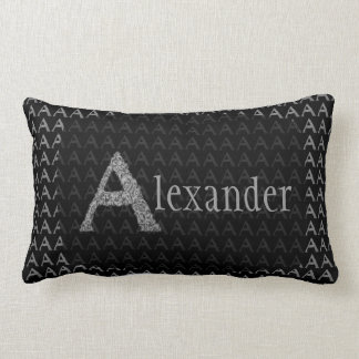 A- The Falck Alphabet (Silvery) Lumbar Pillow