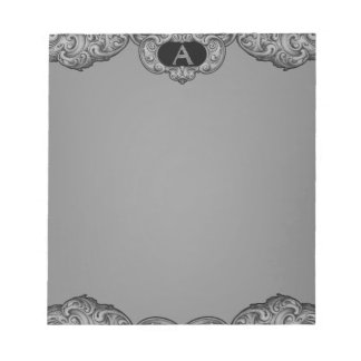 A- The Falck Alphabet (Silvery) Note Pad