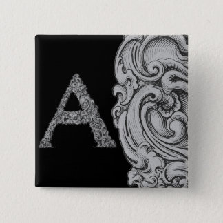 A - The Falck Alphabet (Silvery) Pinback Button