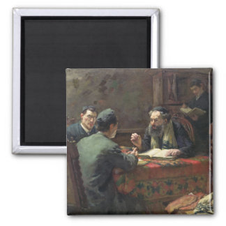 A Theological Debate, 1888 2 Inch Square Magnet