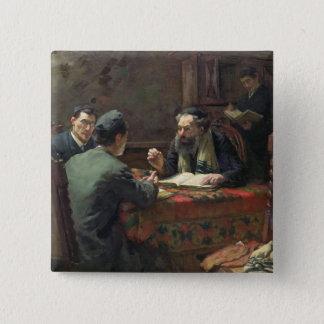 A Theological Debate, 1888 Button
