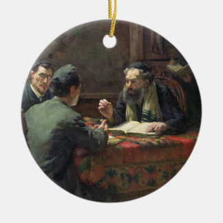 A Theological Debate, 1888 Ceramic Ornament