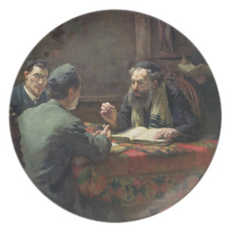 A Theological Debate, 1888 Plate