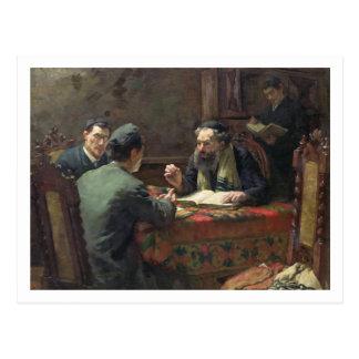 A Theological Debate, 1888 Postcard