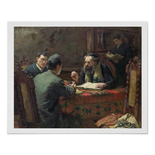 A Theological Debate, 1888 Poster