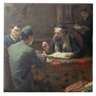 A Theological Debate, 1888 Tile