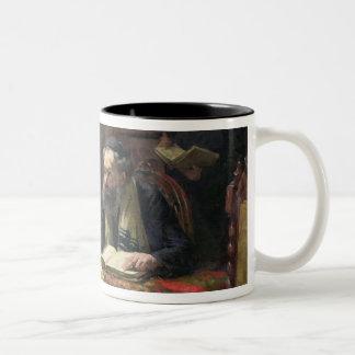 A Theological Debate, 1888 Two-Tone Coffee Mug