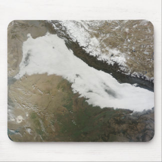 A thick bank of low clouds mouse pad