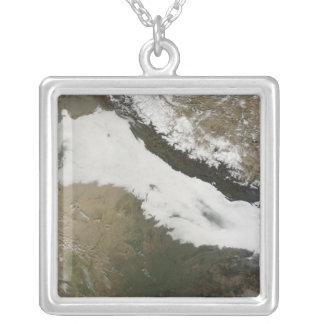 A thick bank of low clouds necklace