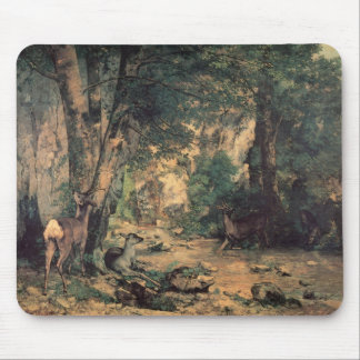A Thicket Of Deer At The Stream Mouse Pad