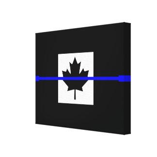 A Thin Blue Line Canadian Flag Canvas Print