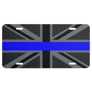 A Thin Blue Line Union Jack License Plate