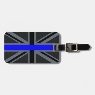 A Thin Blue Line Union Jack Luggage Tag