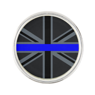 A Thin Blue Line Union Jack Pin