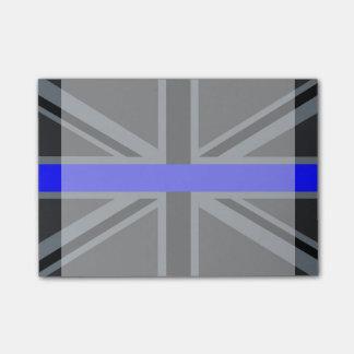 a thin blue line union jack postit notes