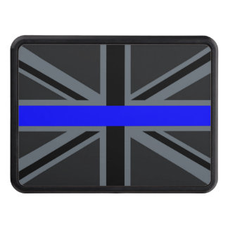 A Thin Blue Line Union Jack Tow Hitch Covers