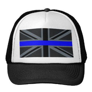 A Thin Blue Line Union Jack Trucker Hat