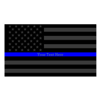 A Thin Blue Line US Flag Personalized Accent Business Card