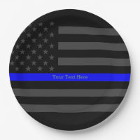 A Thin Blue Line US Flag Your Own Personalized Paper Plate