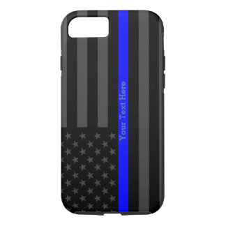 A Thin Blue Line USA Flag Personalized iPhone 8/7 Case