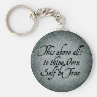A Thine posea al uno mismo sea verdad Llaveros Personalizados