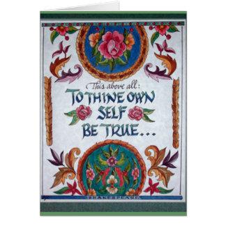 A Thine posea al uno mismo sea verdad por Barbara Tarjeta De Felicitación