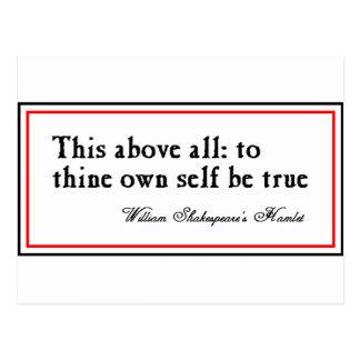 """""""A Thine posea al uno mismo sea verdad """" Postales"""