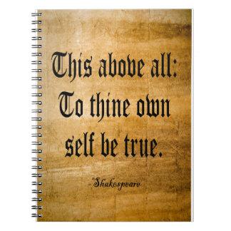 A Thine posea al uno mismo sea verdad (resistido) Libretas