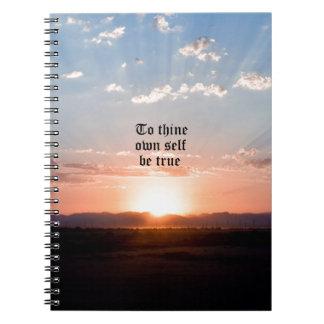A Thine posea al uno mismo Spiral Notebooks