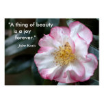 """""""A thing of beauty    is a joy  ... Large Business Cards (Pack Of 100)"""