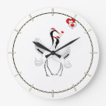 A Thousand Blessings Japanese Cranes Wall Clock