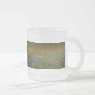 A Thousand Li of River and Mountains Wang Ximeng 10 Oz Frosted Glass Coffee Mug