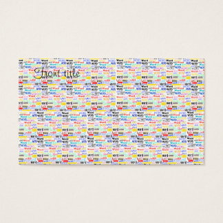 A Thousand Words - 1000 Words Background Business Card