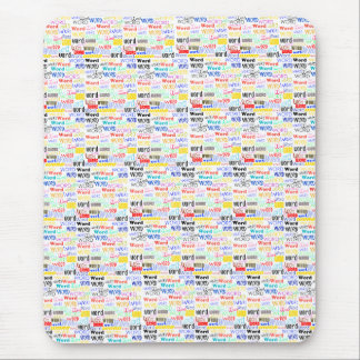 A Thousand Words - 1000 Words Background Mouse Pad