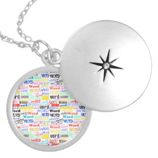 A Thousand Words - 1000 Words Background Silver Plated Necklace