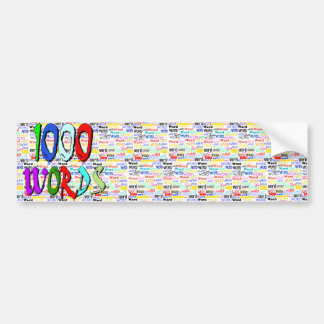 A Thousand Words - 1000 Words Bumper Sticker