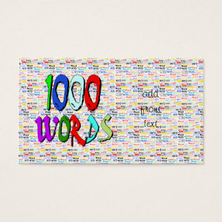 A Thousand Words - 1000 Words Business Card